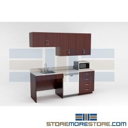Break Room Casework Cabinets Millwork for Employee Coffee Snack Areas