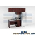 Break Room Manufactured Millwork Cabinets Casework Furniture Kitchen