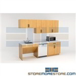 Break Room Casework Upper & Base Cabinets Modular Millwork Employee Area
