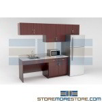 Break Room Modular Millwork Cabinets Casework Employee Breakroom