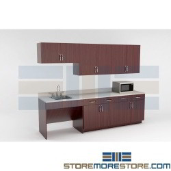 Manufactured Cabinet Kits for Break Rooms Corporate Kitchen Millwork