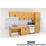 Lounge Breakroom Furniture Cabinets Ready to Ship Millwork Casegoods