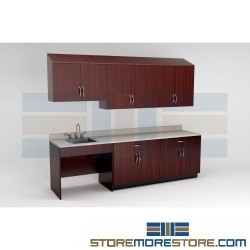 Preconfigured Casework Cabinets for Exam Rooms