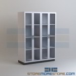 Laboratory Supply Cabinets School Lab Storage Glass Door Wall Cabinets