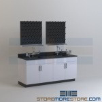 Lab Work counter with Pegboards Laboratory Furniture Made in the U.S.A