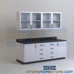 Lab Base Cabinets with Upper Wall Units Laboratory Counters with Sinks