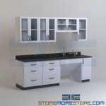 Laboratory Cabinets with Drawers & Doors Chemistry Lab Classroom Furniture