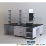 Modular Laboratory Furniture Casework Lab Counter Cabinets with Drawers