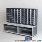 Office Mailroom Sorters with Adjustable Shelves for Mail Sorting