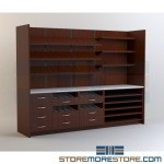 Pre-built Cabinetry for Medication Dispensing Modular Millwork Furniture