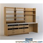 Pharmacy Dispensing Millwork Cabinets Shelves Casework Furniture