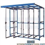 Sliding Industrial Tool Display Pegboard Racks Storing Gaskets Belts Hoses Shelves