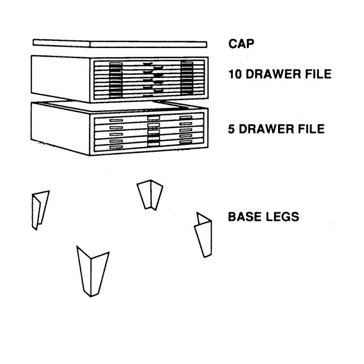 Flat cap metal cover blueprint plan drawing storage cabinet discontinued flat file cap 55 516w x 45 malvernweather Gallery