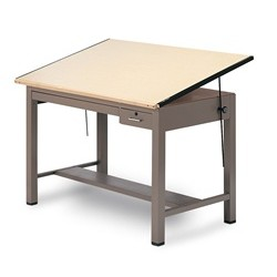 "Four-Post Drafting Table (5'W x D x 3' 1""H), #SMS-31-7736B"