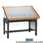 Backlit Drafting Table Lightbox Drawing Workstation Architects Mayline 7736BLT
