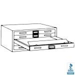 "(Out of Stock) Five-Drawer File W/Dust Covers with Five 2"" High Drawers holds sheets up to 50"" x 38-3/4"", #SMS-31-7869D"
