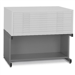 "(Discontinued) 20"" High Base With Bookshelf (40-3/8""W x 29-3/8""D x 20""H), #SMS-31-7877"
