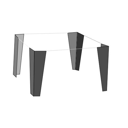 """Furniture Legs Cabinets plan drawing flat file   drawer cabinet 19"""" high base legs   set"""