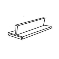 "(Discontinued) 3/4"" High Plastic Magnetic Partitions For Steel Flat File Drawers (6""W x 3/4""D x 1-5/8"" H), #SMS-31-7966"