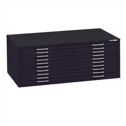 "(Discontinued) 10-Drawer File, Interlocking Steel Plan File with Ten 5/8"" High Drawers holds sheets up to 43"" x 33"", #SMS-31-7968"