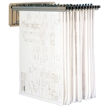"Wall Mounted Blueprint Rack With 12 Hangers And 42"" Clamps, #SMS-31-9305"