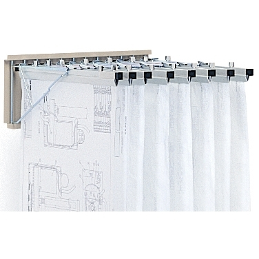 Wall mounted blueprint rack engineering documents for Architectural plan storage