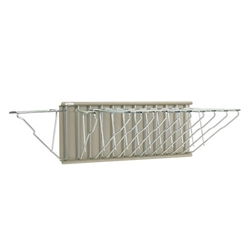 "Hanging blueprint drawing wall rack with 12 hangers (no clamps), 23-1/8"" wide x 10-1/4"" high, #SMS-31-9309H"