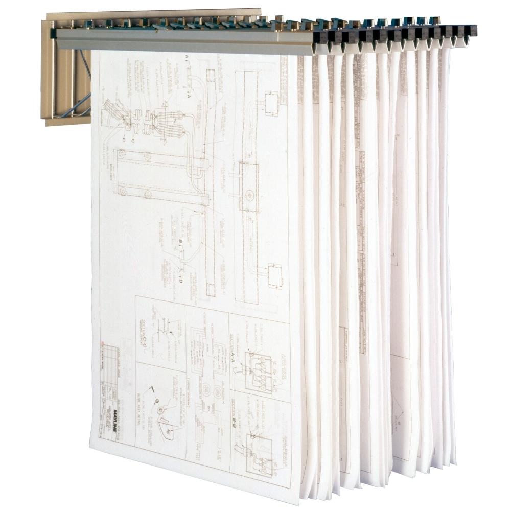 Plan drawing rack hanging blueprint storage wall mounted large hanging blueprint malvernweather Images