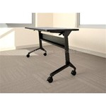 "60""x24"" Rectangular Flip-N-Go® table with thermally fused laminate and standard t-mold edge, #SMS-31-LF2460LT"