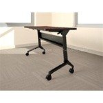 "72""x24"" Rectangular Flip-N-Go® table with thermally fused laminate and standard t-mold edge, #SMS-31-LF2472LT"