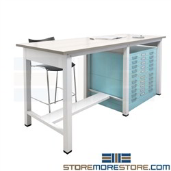 Drafting Table Flat Files Cabinet Plan Drawing Workstation Table Mayline RTT1