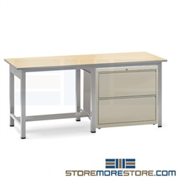 Drawing Desk with File Cabinet Storage Drawing Desk Artist Table Mayline RTT2