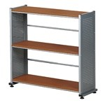 "Office Shelving Three Shelf Bookcase with Fixed Shelves, 31-1/4"" wide by 11"" deep by 31"" high, #SMS-31-SOHO993"
