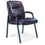 Leather Series Guest Chair with padded armrests, #SMS-31-ULGST