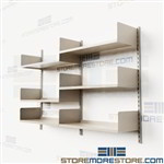 Wall Shelves on Vertical Standards Steel Shelving Brackets Metal Storage Shelves