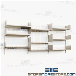 Wall Mounted Upper Shelves Over Counter Shelving Adjustable Storage Racks