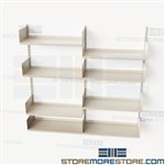 Commercial Wall Mounted Shelves Office Shelving Tracks Brackets Storage Racks