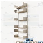 Office Wall Mounted Shelves Storage for Backroom Supplies Boxes Files Books