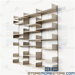 Adjustable Wall Mounted Storage Shelves Steel Tracks Brackets Shelving Racks