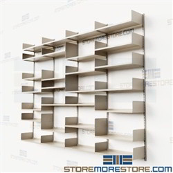 Floor to Ceiling Wall Mounted Shelves Storage Office Supplies Files Books