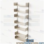 Steel Wall Shelving Kits Bookshelves Vertical Standards Brackets Book Storage