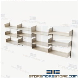 Wall Mounted Track Shelves Over Copier Supplies Mailroom Storage Office