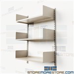 Wall Mounted Adjustable Steel Shelves on Tracks Office Shelving Supplies