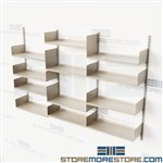Track Storage Shelving Wall Mounted Adjustable Shelves Commercial Quality