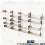 Wall Mounted Storage Kits Track Shelving Adjustable Metal Shelves Books