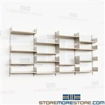 Wall Mount Adjustable Storage Kits Book Shelving Units Steel Racks