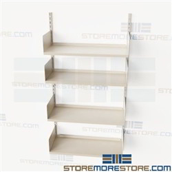 Wall Mounted Bookshelves Standards Brackets Shelves Library Storage Racks Steel