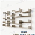 Commercial Track Shelving Wall Mounted Office Shelves Supplies Books Storage