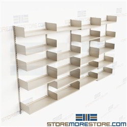 Commercial Adjustable Track Shelving Mounts to Wall Commercial Steel Shelves