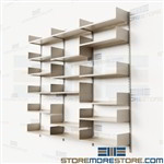 Bookshelves for Walls Adjustable Metal Track Shelving Steel Shelves Racks
